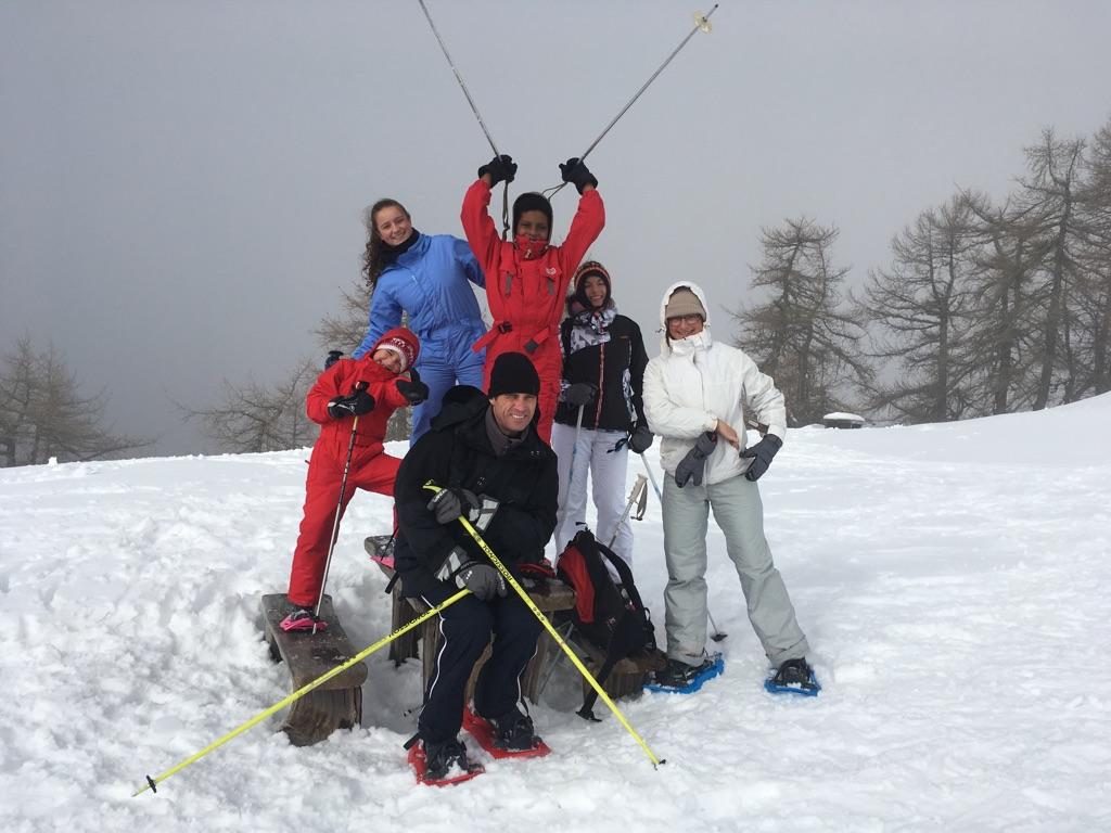 raquettes à neige à l'Authion
