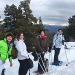 Raquette à neige à Greolières les Neiges