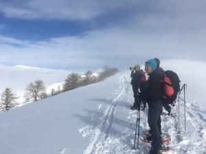 Randonnée en raquettes à neige à l'Authion