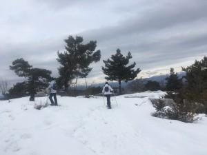 randonnee en raquettes a neige famille